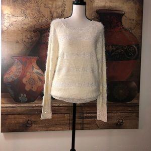 Bebe Eyelash & Sequin Stripe Women's Sweater